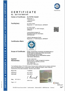 Импланти CAMLOG Сертификат за качество ISO